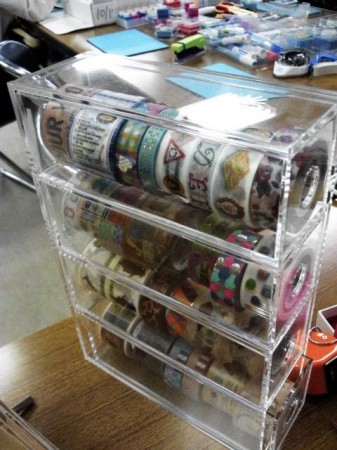 FilixさんのWSで展示されていた「魅せる」マスキングテープ収納方法