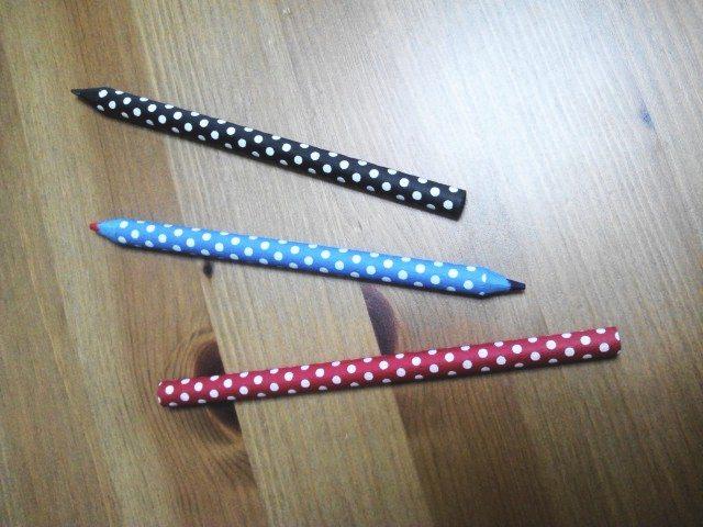 ジブング研究所 「鉛筆作れるんだぜぇ~ワイルドだろぅ~」で作った、紙巻鉛筆たち